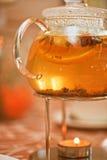 Teapot of herbal tea Stock Image