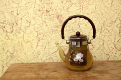 Teapot with herbal tea Royalty Free Stock Photo