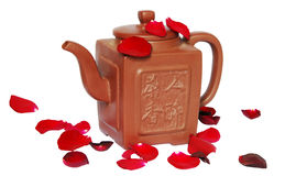 Teapot with hieroglyph Stock Photography