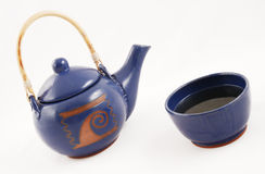 Teapot with hot tea Royalty Free Stock Photography