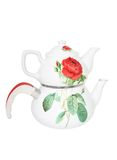 Teapot hot tea breakfast ceramic porcelain Royalty Free Stock Photography