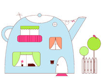 Free Teapot-house Stock Photo - 12546950