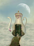 Teapot house royalty free illustration