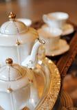 Teapot i filiżanki obrazy stock