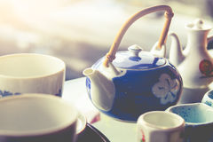 Teapot i styl rocznik obraz royalty free