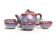 Teapot i teacups Zdjęcie Royalty Free