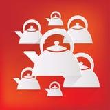 Teapot icon. coffee pot symbol Stock Images