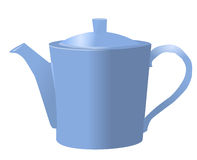 Teapot illustration. Vector illustration of a blue teapot in a white background Stock Image