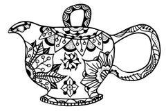 Teapot isolated vector Stock Photo