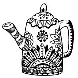 Teapot isolated vector Royalty Free Stock Image