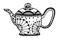 Teapot isolated vector Royalty Free Stock Images
