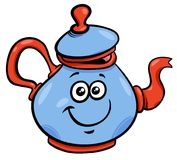 Teapot or kettle cartoon character Royalty Free Stock Photo