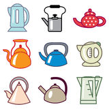 Teapot and kettle icons Stock Image