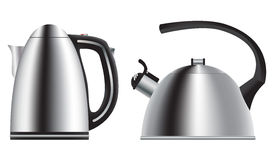 Teapot and kettle. Set in a realistic style. Vector. Royalty Free Stock Photo