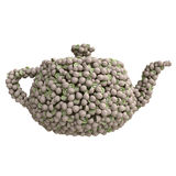 Teapot of  kiwi Stock Photo