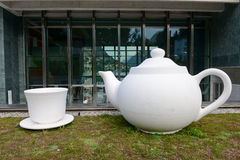 Teapot at LAC museum in Lugano Stock Photo