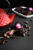 Teapot and loose leaf tea Stock Photography