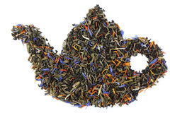 Teapot made from tea leaves Stock Image