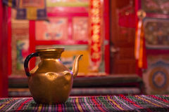 Teapot. Minority Home Visit in Jiuzhaigou Stock Photos