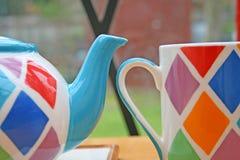 Teapot and mug. Royalty Free Stock Image