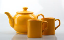 Teapot and mug Stock Image