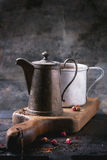 Teapot and mug of tea Royalty Free Stock Photos