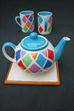 Teapot and mugs Royalty Free Stock Photos