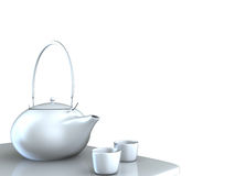 Teapot with nice background Royalty Free Stock Image