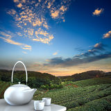 Teapot with nice background Stock Photography