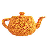Teapot of oranges Royalty Free Stock Photos