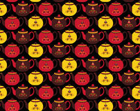 Teapot pattern Royalty Free Stock Images