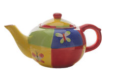 Teapot with patterns Stock Images