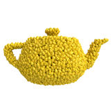 Teapot of pears Royalty Free Stock Photography