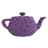 Teapot of plums Royalty Free Stock Images