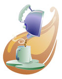 Teapot pouring tea Royalty Free Stock Images