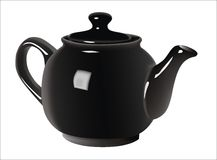 Teapot preto Fotografia de Stock Royalty Free
