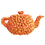Teapot of red apples Stock Image
