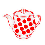Teapot with red dots vector Stock Photos