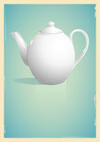 Teapot in retro style Royalty Free Stock Image