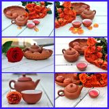 Teapot and rose Stock Photography