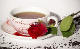 Teapot with rose Royalty Free Stock Photos