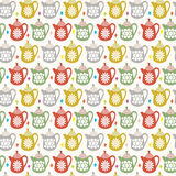 Teapot seamless pattern Royalty Free Stock Image