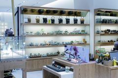 Teapot shop in taipei 101 building Royalty Free Stock Photo