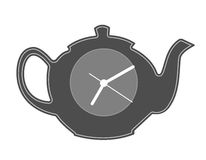 Teapot silhouette. Stock Photo