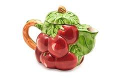 Teapot som isoleras på vit Arkivfoto