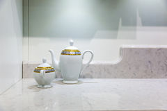 Teapot and sugar basin Stock Photography