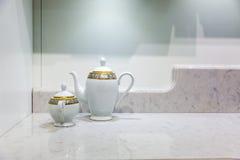 Teapot and sugar basin Stock Photography