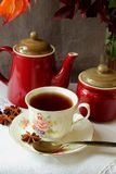 Teapot, sugar bowl and a cup Stock Images