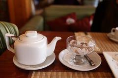 Teapot and sugar Royalty Free Stock Photo