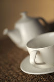 Teapot on table, close up Stock Images
